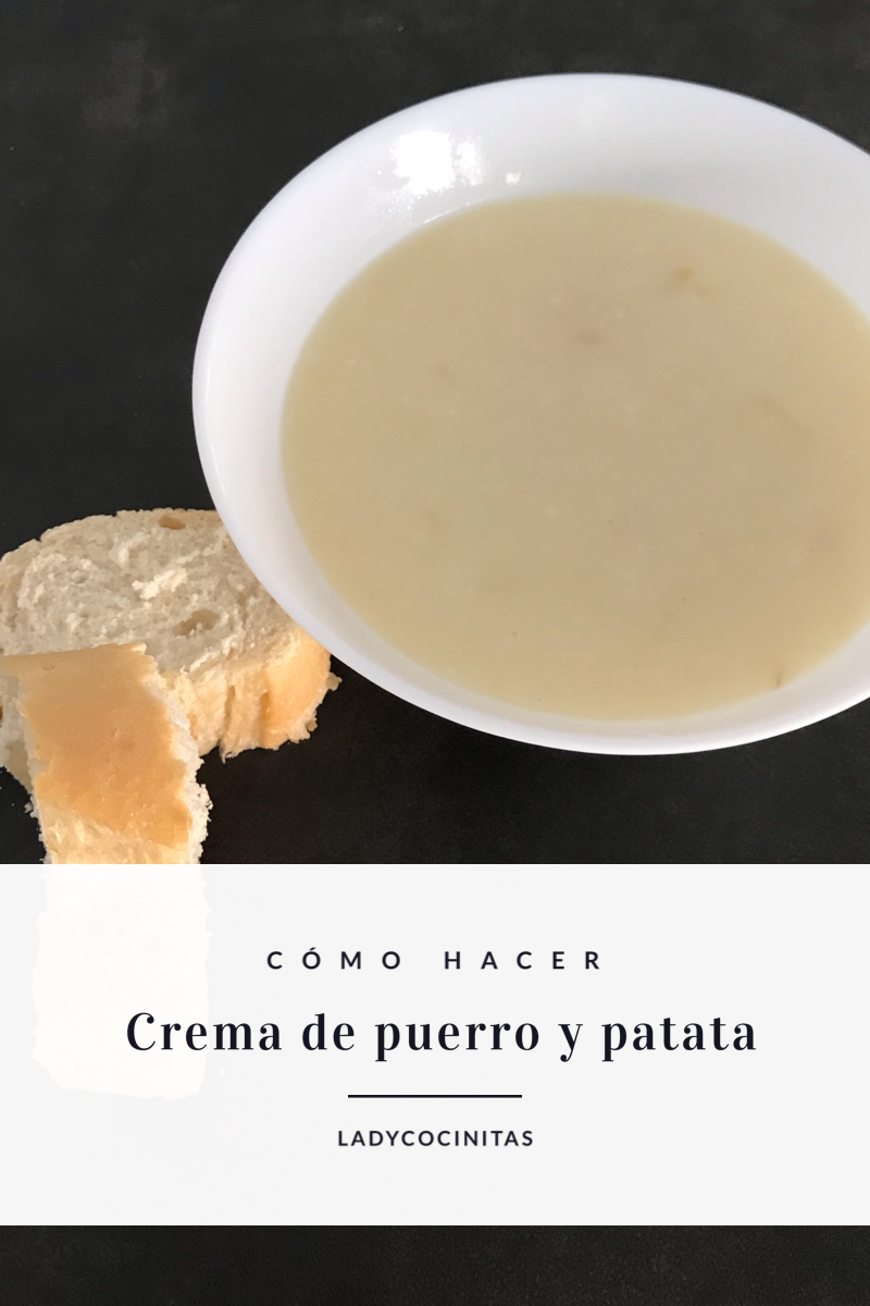 Receta de crema de puerro y patata