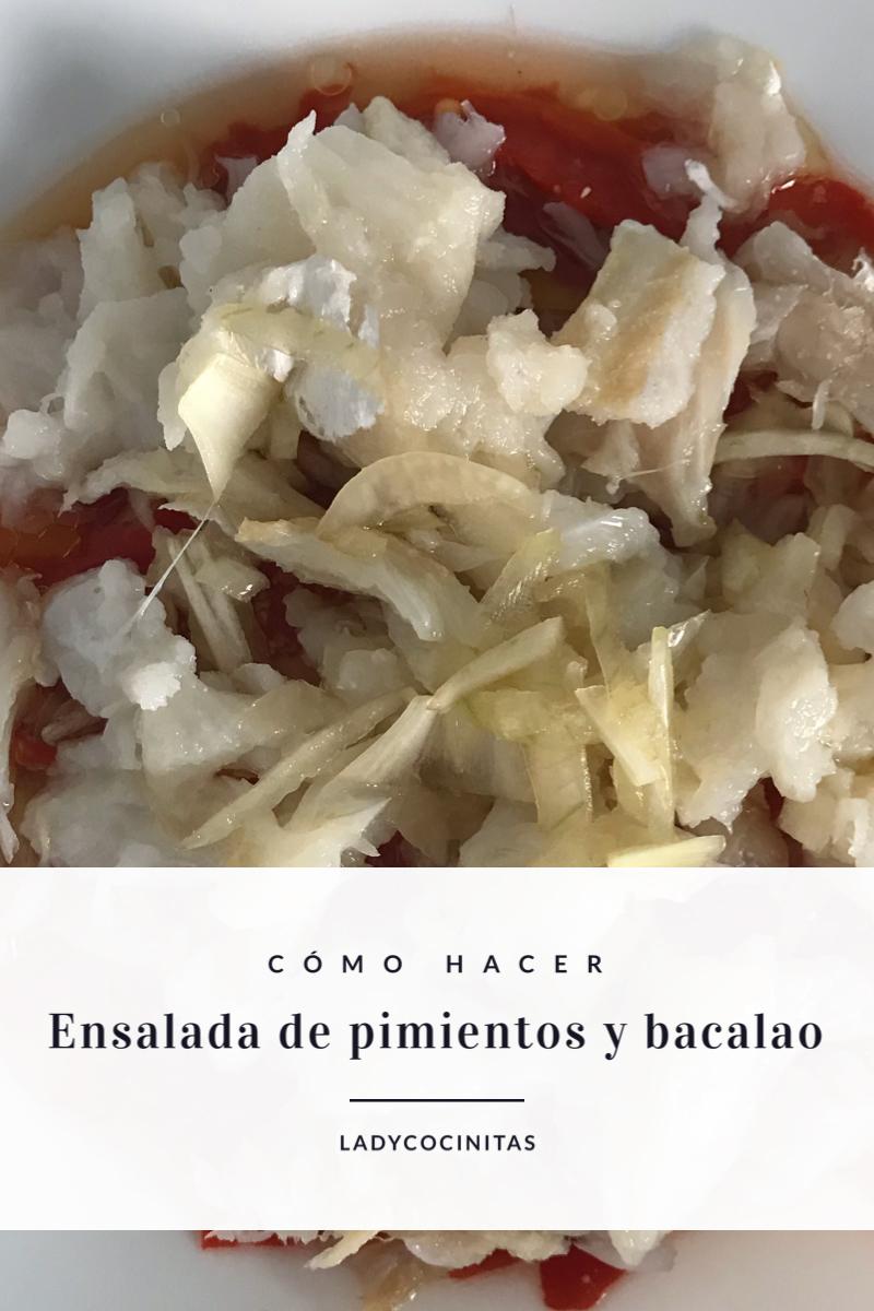 Receta de ensalada de pimientos con bacalao