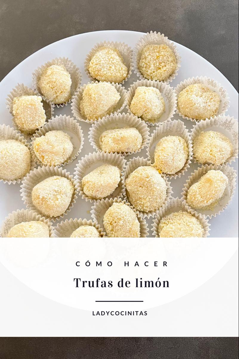 Trufas de chocolate blanco y limón