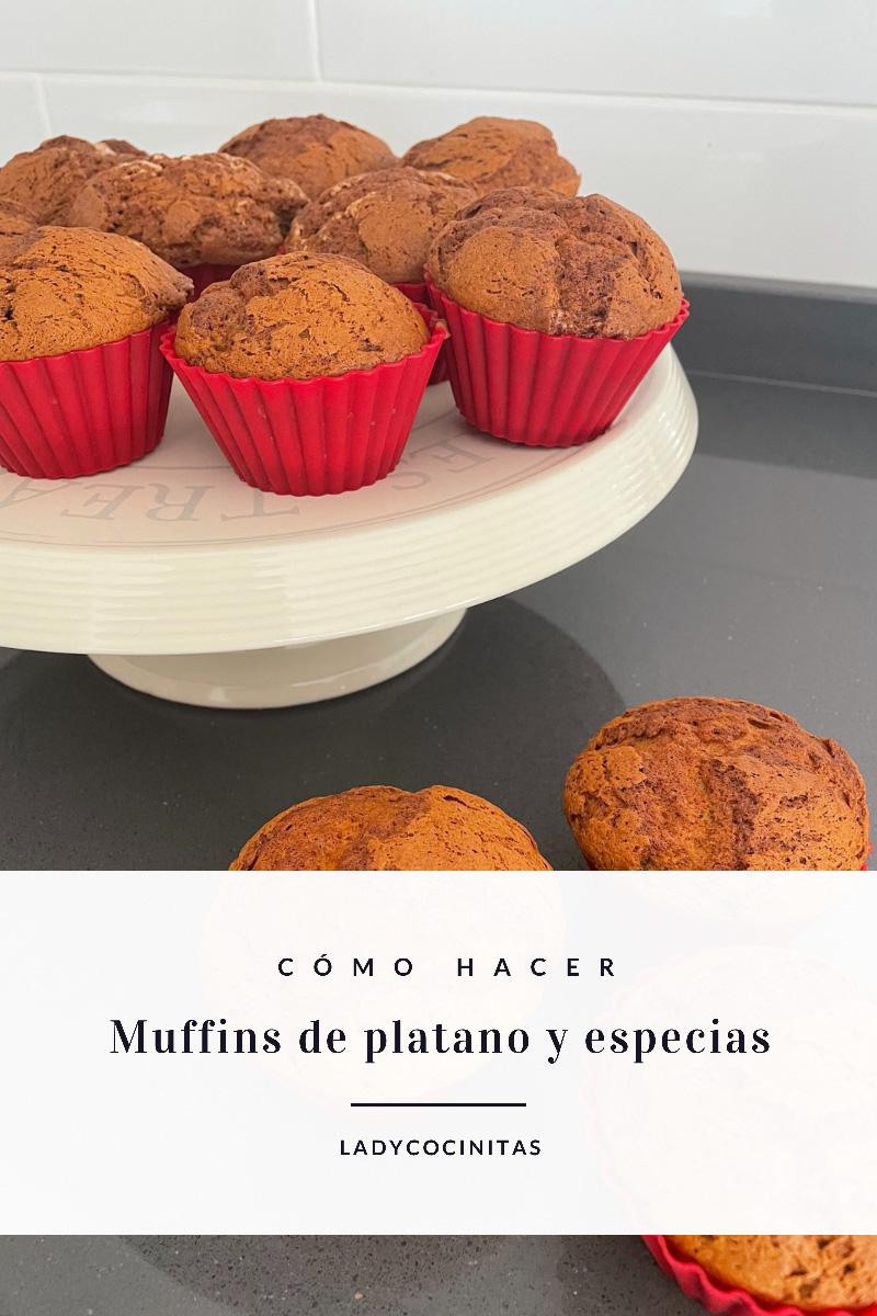 Muffins de plátano con especias