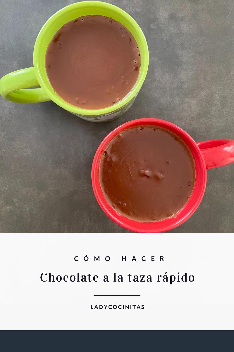 Chocolate a la taza rápido