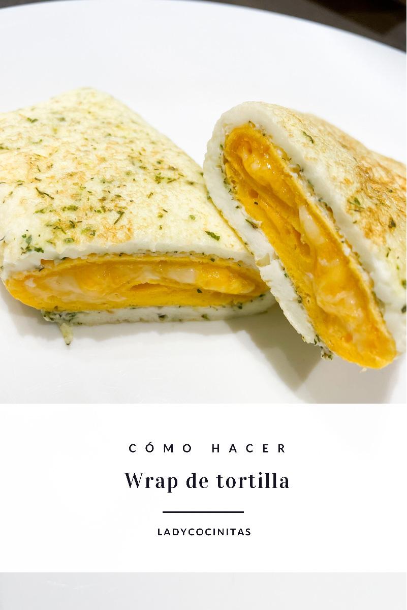 Rollo de tortilla de queso